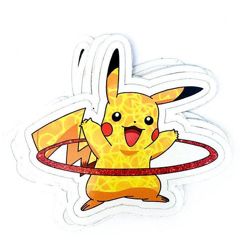 Hooping Pikachu Vinyl Decal Sticker