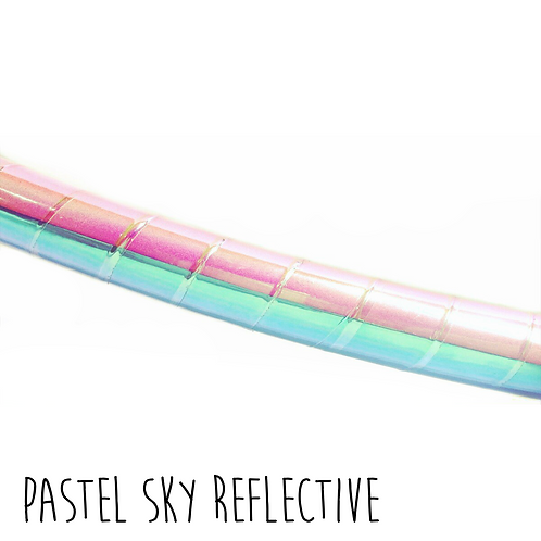Pastel Sky Reflective Taped Hula Hoop