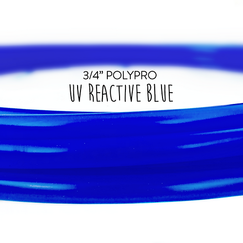 "3/4"" UV Reactive Blue Polypro Hula Hoop"