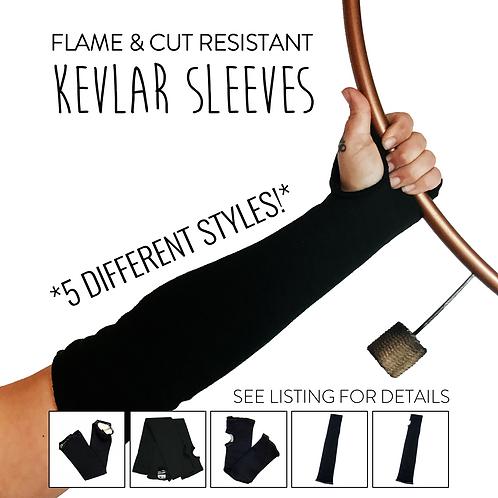 Black Flame & Cut Resistant Kevlar Sleeves