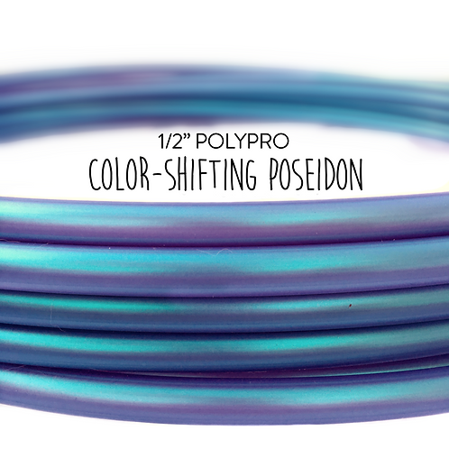 "1/2"" Color-shifting Poseidon Polypro Hula Hoop"