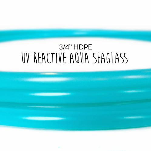 "3/4"" UV Reactive Aqua Seaglass HDPE Hula Hoop"