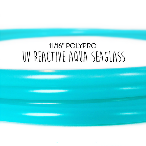 "11/16"" UV Reactive Aqua Seaglass Polypro Hula Hoop"