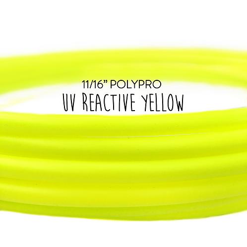 "11/16"" UV Reactive Yellow Polypro Hula Hoop"