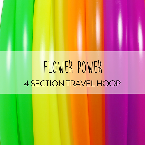 Flower Power 4 Section Travel Hula Hoop