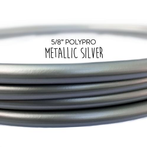 "5/8"" Metallic Silver Polypro Hula Hoop"