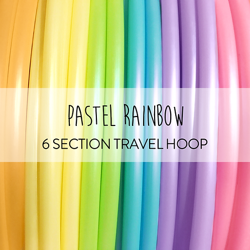 Pastel Rainbow 6 Section Travel Hula Hoop