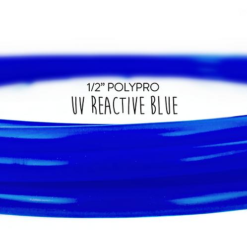 "1/2"" UV Reactive Blue Polypro Hula Hoop"