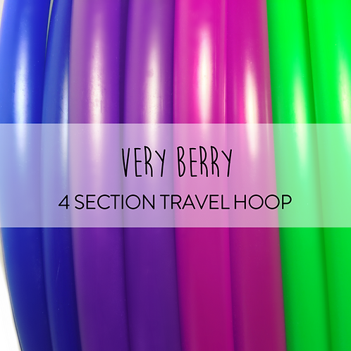 Very Berry 4 Section Travel Hula Hoop