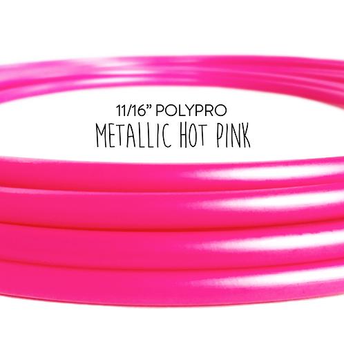 """11/16"""" Metallic Hot Pink Polypro Hula Hoop"""