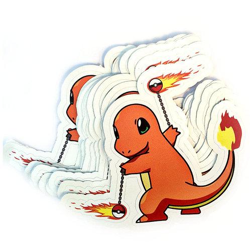 Charmander Fire Poi Vinyl Decal Sticker