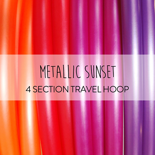 Metallic Sunset 4 Section Travel Hula Hoop