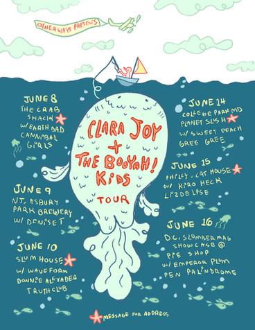 Clara Joy & Booyah Kids Tour Poster