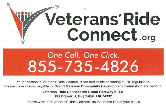 Veterans' Ride Connect Link and Logo