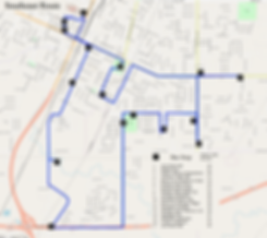 SE OSM with route outline Sept 2019 Fixe