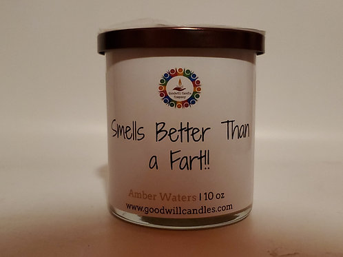 Smells Better Than a Fart - Amber Waters - 10 Oz - 2 Wick