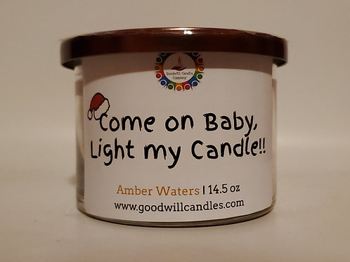 Christmas Come On Baby  Amber Waters 2 - 3 Wick - 14.5 Oz