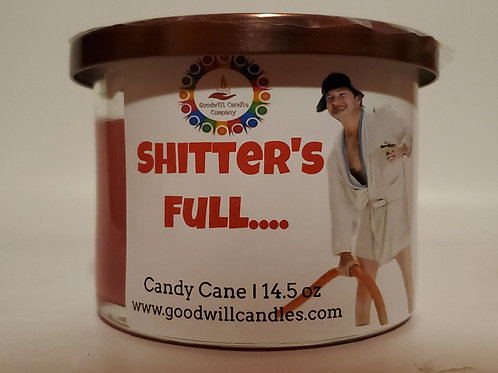Shitter's Full - Candy Cane - 3 Wick - 14.5 Oz