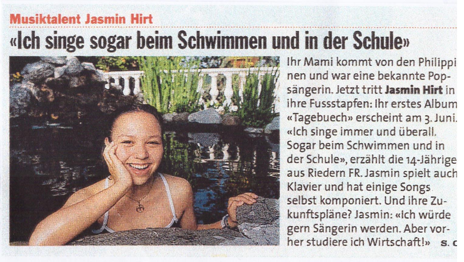 Schweizer Illustrierte Jasmin Hirt