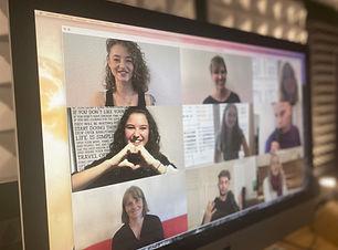 Zoom Meeting Online Vocal Coaching Grupp