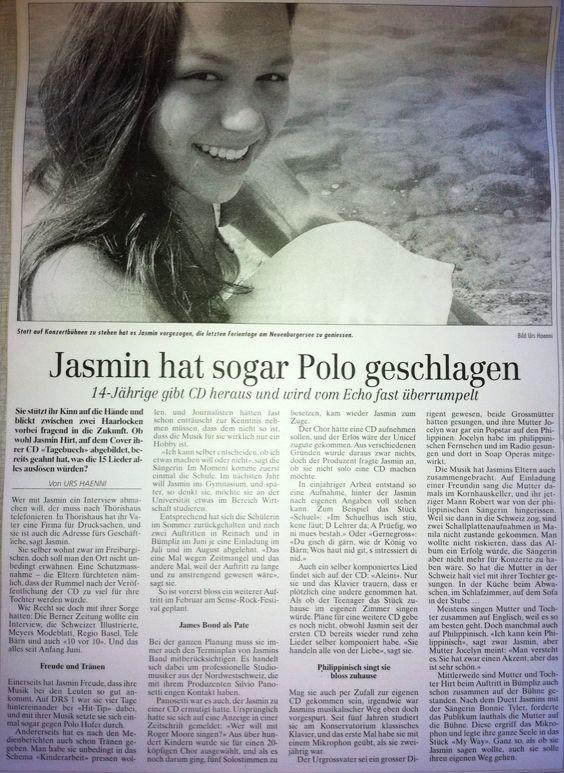 Freiburger Nachrichten Jasmin Joana Hirt Bericht