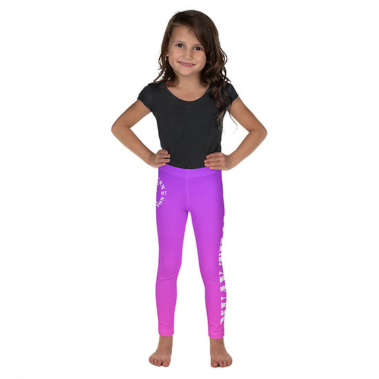 Kid's Purple to Pink Ombre American Revolution 'Muay Thai' Leggings