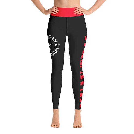 AR Black & Red Yoga Leggings