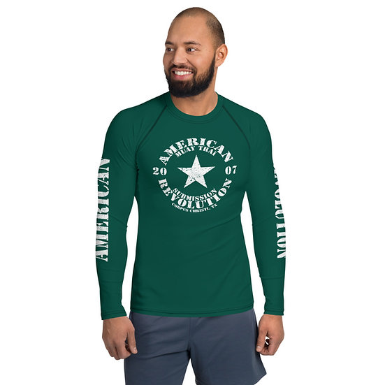 Men's Classic American Revolution Dark Sea Green Rash Guard