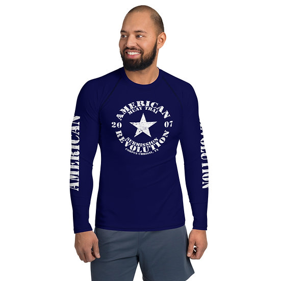 Men's Classic American Revolution Midnight Blue Rash Guard