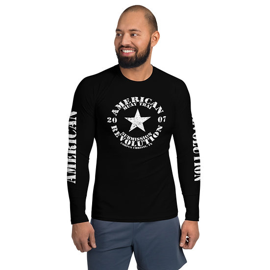 Men's Classic American Revolution Black Rash Guard