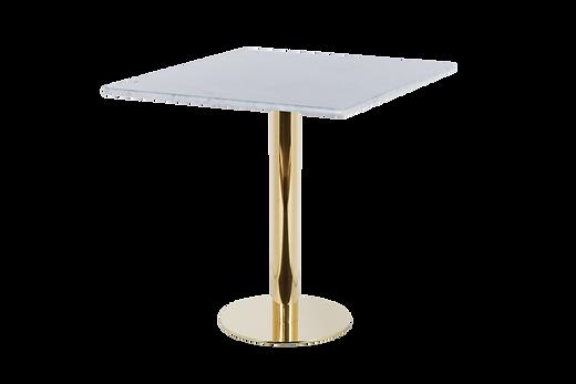 โต๊ะขาเดี่ยว สแตนเลส โกลด์ พื้นแบน