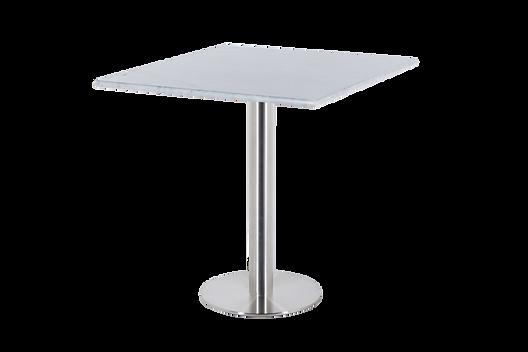 โต๊ะขาเดี่ยว สแตนเลสแฮร์ไลน์ พื้นแบน