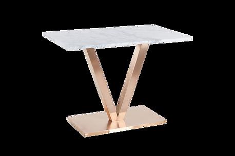 โต๊ะขาตัววี สแตนเลสแฮร์ไลน์ โรสโกลด์