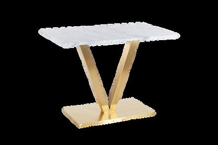 โต๊ะขาตัววี สแตนเลสแฮร์ไลน์ โกลด์