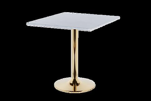 โต๊ะขาเดี่ยว สแตนเลส โกลด์ แชมเปญ
