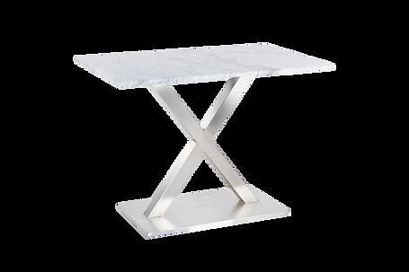 โต๊ะขาตัวX สแตนเลสแฮร์ไลน์
