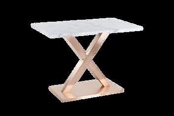 โต๊ะขาตัวX สแตนเลสแฮร์ไลน์ โรสโกลด์