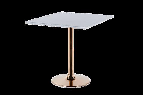 โต๊ะขาเดี่ยว สแตนเลส โรสโกลด์ แชมเปญ