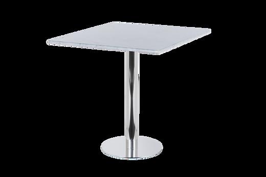 โต๊ะขาเดี่ยว สแตนเลส พื้นแบน