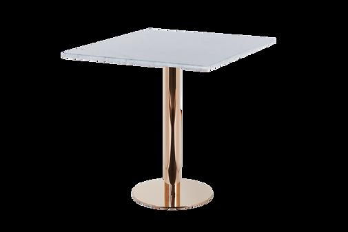 โต๊ะขาเดี่ยว สแตนเลส โรสโกลด์ พื้นแบน