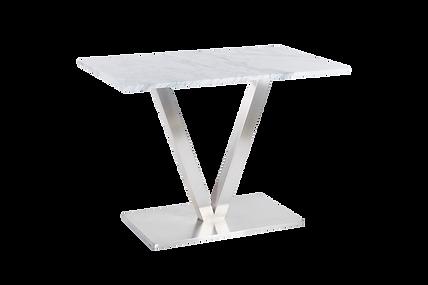 โต๊ะขาตัววี สแตนเลสแฮร์ไลน์