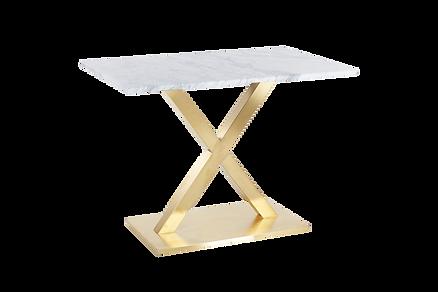 โต๊ะขาตัวX สแตนเลสแฮร์ไลน์ โกลด์