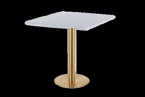 โต๊ะขาเดี่ยว สแตนเลสแฮร์ไลน์ โกลด์ พื้นแบน