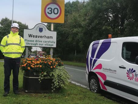 Freedom Fibre commences build in Weaverham