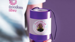 Freedom Fibre staff raise £536 for 'Freya's Little Legs'