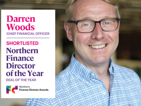 Darren Woods shortlisted for Northern Finance Director of the Year Awards