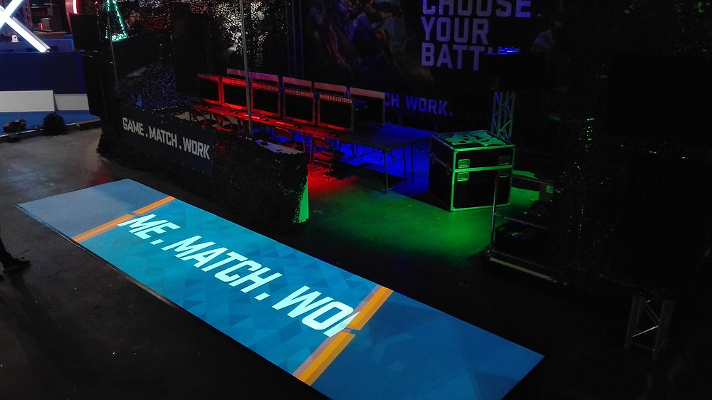 Interactive floor at gaming event Dreamhack
