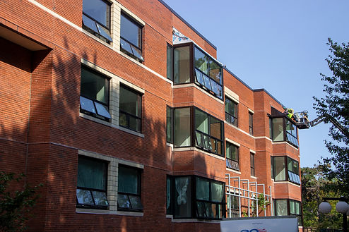 Hebrew home brick and windows work