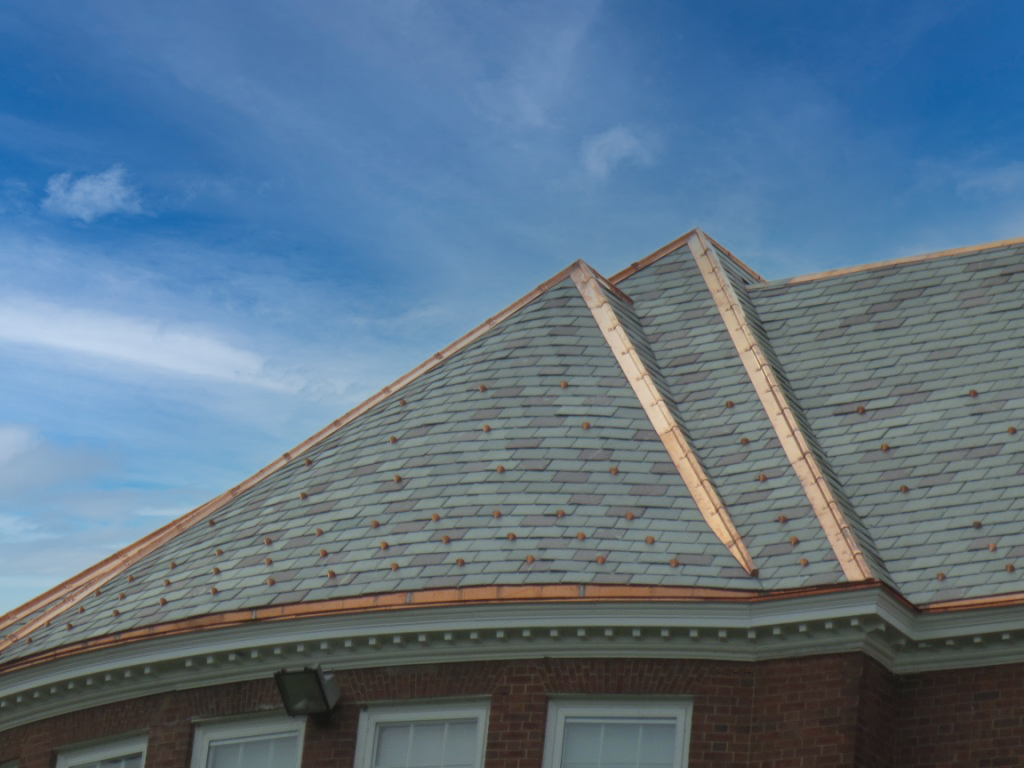 Sullivan West showing the roof and the detail of the copper trim