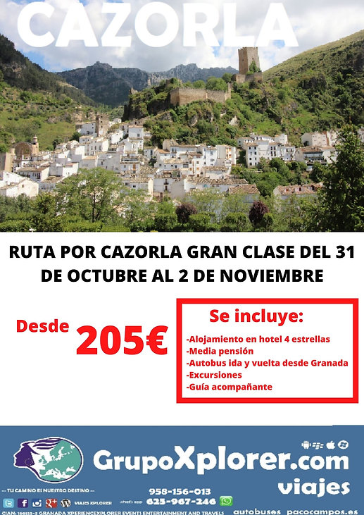 RUTA POR CAZORLA GRAN CLASE DEL 31 DE OC